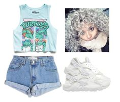 """""""something I would wear would yhu??"""" by lovermonster ❤ liked on Polyvore featuring Levi's, Forever 21 and NIKE"""