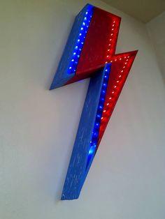 David Bowie, Aladdin Sane, Ziggy Stardust Lightning Bolt LED illuminated