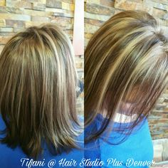 Beautiful heavy highlights with a dark base with RedKen Cover Plus 6wm and high lights with RedKen Flash left! #RedKen #CoverPlus #Flashleft #HighLights #HairStudioPlusDenver #HairByTifani #DenverStylist