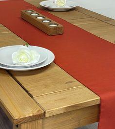 Rust Red Table Runner - 14 x 70 (35cm x 177cm)