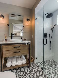 Rustic but modern vintage style bathroom/ wetroom