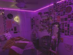 my gallery wall Cute Room Ideas, Cute Room Decor, Teen Room Decor, Wall Decor, Neon Bedroom, Room Ideas Bedroom, Hippie Bedroom Decor, Indie Room Decor, Hippie Bedrooms