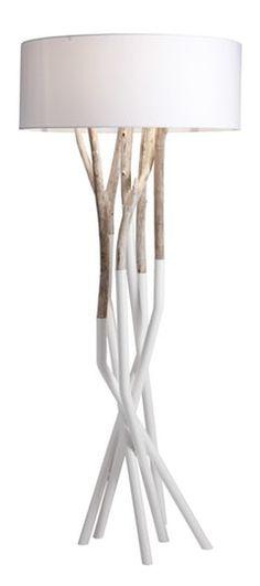 Outli Floor Lamp Contemporary, MidCentury Modern, Metal, Wood, Floor Lamp by Michael Dawkins Home