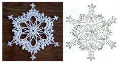 Crochet Snowflake Pattern, Crochet Snowflakes, Crochet Motif, Crochet Patterns, Crochet Projects, Crocheting, Holiday, Christmas, Diy