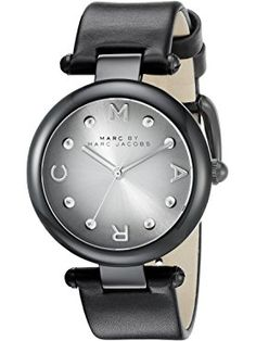 Marc Jacobs Women's Dotty Black Leather Watch - MJ1410 ❤ Marc by Marc Jacobs Watches