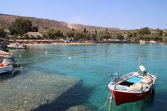 That exact boat was there! // Marathi Beach In Crete