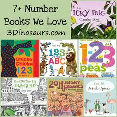 7+ Number Books We Love! - 3Dinosaurs.com