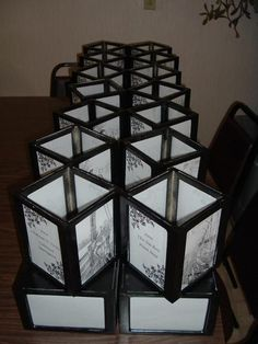 DIY four-sided photo lanterns (i think this is my preferred!)