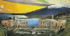 Tivadar Kosztka Csontváry - Ruins of the Greek Theatre at Taormina (1905)