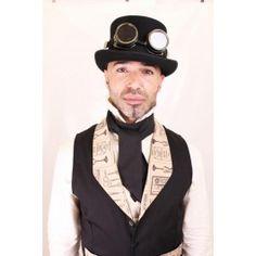 Cravate Foulard Gothique Steampunk Victorien Noir