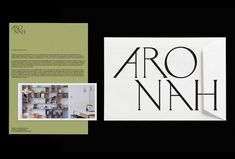 Arohna by Gemma Mahoney Graphic Design Projects, Print Design, Typography Logo, Lettering, Minimal Web Design, Print Finishes, Letter Logo, Visual Communication, Keep In Mind