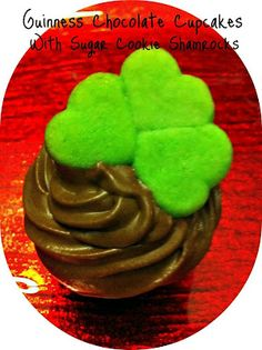 Outnumbered 3 to 1: Good Grub - Guinness Cupcakes with Sugar Shamrock Cookies Recipe