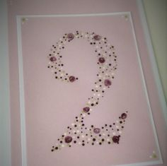 Numbered Birthday Card; Hand Painted Birthday Card; Floral Folk Art Birthday Card by PaperScissorsStitch on Etsy