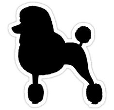 Standard Poodle Silhouette (Black with Fancy Haircut) by Jenn Inashvili