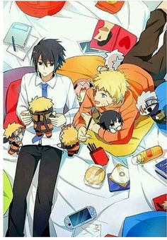i find it cute that while naruto has a plushie of everyone, sasuke only has plushies of naruto. <3