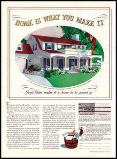 1939 Dutch Boy White Lead Paint Original Vintage Print Ad Awesome Vintage Art | eBay