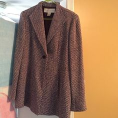 Wool jacket Wine and gray weave jacket Doncaster Jackets & Coats Blazers