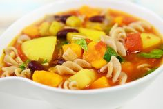 This chunky, flavorful Slow Cooker Root Vegetable Minestrone Stew adds a delicious fall touch to a warm, comforting favorite.