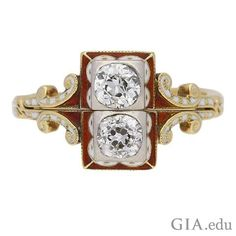 #Gmmelrings gained popularity as betrothal rings during the Renaissance. Traditionally, the couple each wore one part of the ring; the two rings were then reunited at the wedding ceremony and worn as one ring by the bride. What do you think? Is this #antique #engagementring style set to make a come back with 21st century couples? Courtesy: 1stdibs