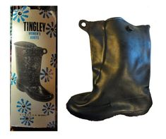 845bac94 Vintage 1950s Boots Rubber Pull-on Boots Black NOS New in Box Women's Size  Small Made in USA