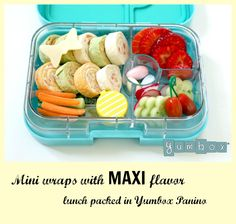 Recipe and suggestions on how to make mini wraps with maxi flavor. Wonderful addition to healthy packed lunches for kids and adults.