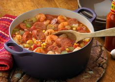 AWESOME and Simple!!!! Shrimp Creole (I omitted the corn and served it over brown rice....) had a kick, but not too spicy... GREAT flavor!