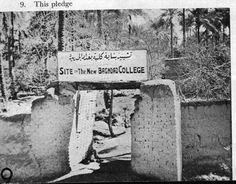 بغداد الاولى في الثقافة والعلوم .. أين هي الان؟  صورة تششيد بناية كلية بغداد الجديدة عام 1919