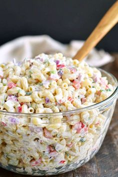 Macaroni Salad is the best side dish for your BBQ parties and potlucks. This is our favorite Macaroni Salad full of red onions celery bell peppers herbs and of course delicious creamy dressing. Homemade Macaroni Salad, Macaroni Salad Ingredients, Recipe For Macaroni Salad, Macaroni Salads, Macaroni Salad With Chicken, Healthy Macaroni Salad, Summer Macaroni Salad, Best Pasta Salad, Tortellini Salad