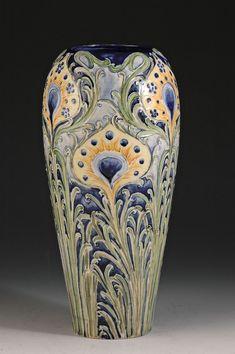 Andrew Muir | Clarice Cliff, Art Deco Pottery, Moorcroft and 20th Century Ceramics Dealermoorcroft pottery 'Peacock feather' vase C1902