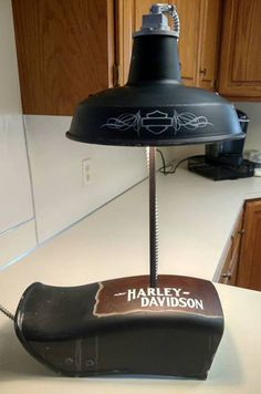 Custom Paint, JB-Kustoms.com, Motorcyle paint, Kustom Paint. Harley Davidson Lamp. Harley Davidson man cave furniture.