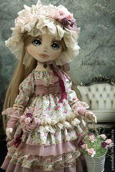 Ася - бледно-сиреневый,кукла ручной работы,кукла в подарок,кукла текстильная