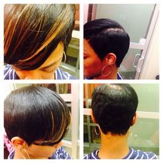 Short Haircut/ Style/ with bang Extensions