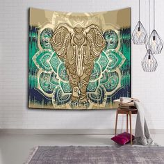 LFH Elephant Tapestry Psychedelic Bohemian Tapestries Wall Hanging Decor Indian Home Hippie Bohemian Tapestry Bohemian Bedspread, Bohemian Tapestry, Mandala Tapestry, Bohemian Decor, Colorful Tapestry, Hippie Bohemian, Hippie Style, Beach Bedspreads, Elephant Tapestry