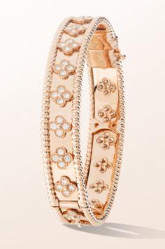 Perlee clover bracelet. Van Cleef & Arpels
