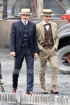 The Great Gatsby (2013) | On Location: Joel Edgerton (Tom Buchanan) and Tobey Maguire (Nick Carroway)