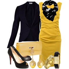 Black & Yellow, created by gangdise on Polyvore