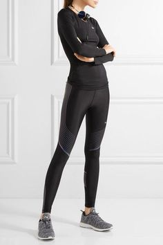 Nike | Pro Cool mesh-paneled Dri-FIT stretch-jersey top | NET-A-PORTER.COM