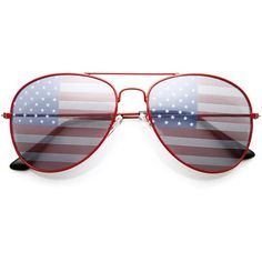 0fc563af6dd Party Independence Day Usa Flag Aviator Sunglasses 8954 ( 19) ❤ liked on Polyvore  featuring