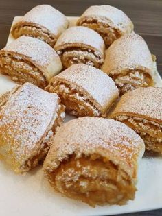 Pastry Recipes, Sweets Recipes, Pie Recipes, Desserts, Strudel, Good Food, Yummy Food, Romanian Food, Food And Drink