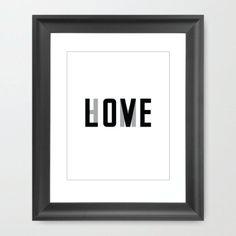 #art #print #love #home #house #decor #homedecor #wall #typography #type #text #words #black #white #gray #grey