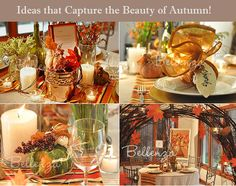 Centerpieces with a rustic and elegant charm!