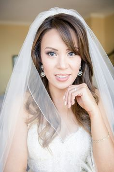 Bison Bride, Wendy!  Married August 22nd 2015, wearing style #3413 by Lazaro!  *Wedding photographed by Joanna Moss Photography, and featured on KnotsVilla!!