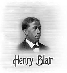Henry Blair (1807–1860) was the second African American inventor to receive a patent.  He was born in Glen Ross, Maryland, U.S. in 1807. His first invention was the Seed-Planter, patented October 14, 1834, which allowed farmers to plant more corn using less labor in a smaller amount of time. On August 31, 1836[3] he obtained a second patent for a cotton planter.