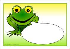 Frog-themed editable target board posters (SB4627) - SparkleBox 3 versies