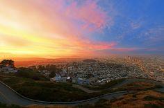 Sunset Colors: Twin Peaks, San Francisco by KP Tripathi (kps-photo.com), via Flickr