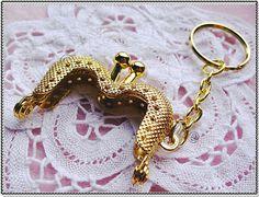 4cm (1 1/2 inch) mini honeycomb pattern crown-shape metal bag purse frame (color golden)-1piece