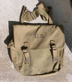 1942 US Army Musette Messenger Bag Canvas by MikesOddSAndEnds, $49.99