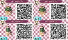 Animal crossing new leaf winter dress with coat qr code