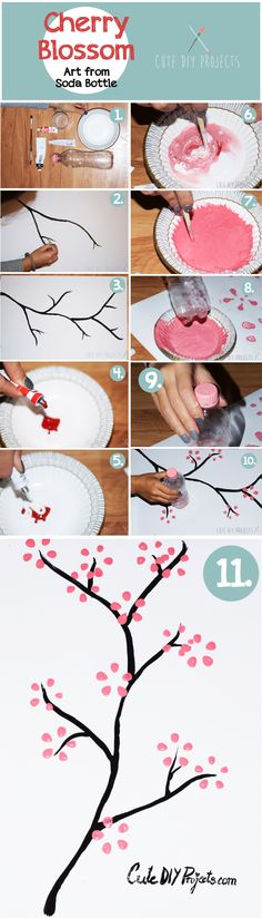 Cherry Blossom Art From Soda Bottle in 11 Easy Steps