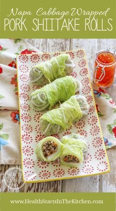 Napa Cabbage Wrapped Shiitake Pork Rolls {Low-Carb, Gluten-Free, Grain-Free, Paleo & Primal Friendly}